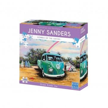 Blue Opal Jenny Sanders Green Combi Ute Jigsaw Puzzle