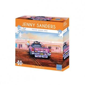 Blue Opal Jenny Sanders Pink Roadhouse Jigsaw Puzzle