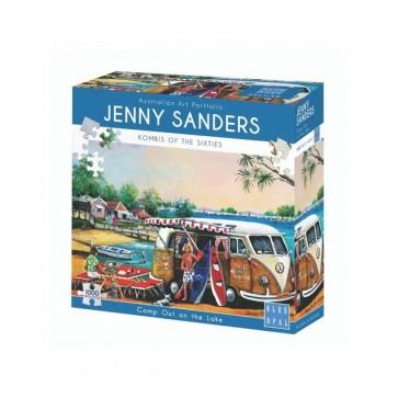 Blue Opal Jenny Sanders on the Lake Jigsaw Puzzle