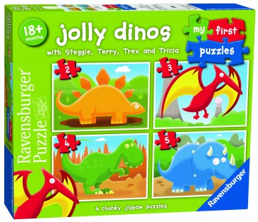 Rburg - Jolly Dinos My First Puzzle 2 3 4 5pc