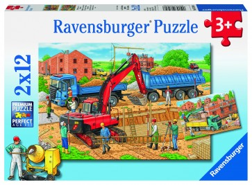 Rburg - Busy Construction Site 2x12pc Puzzle