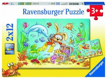 Rburg - Diving Adventure Puzzle 2x12pc
