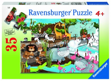 Rburg - Day at the Zoo 35pc Puzzle