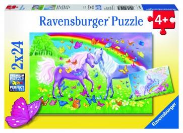 Rburg - Rainbow Horses Puzzle 2x24pc