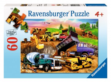 Rburg - Construction Crowd Puzzle 60pc