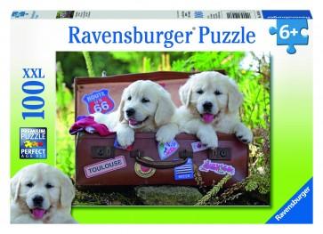 Rburg - Travelling Puppies Puzzle 100pc