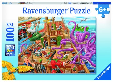 Rburg - Pirate Boat Adventure Puzzle 100pc