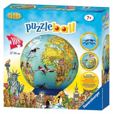 Rburg - Children's Globe 3D PuzzleBall 108pc