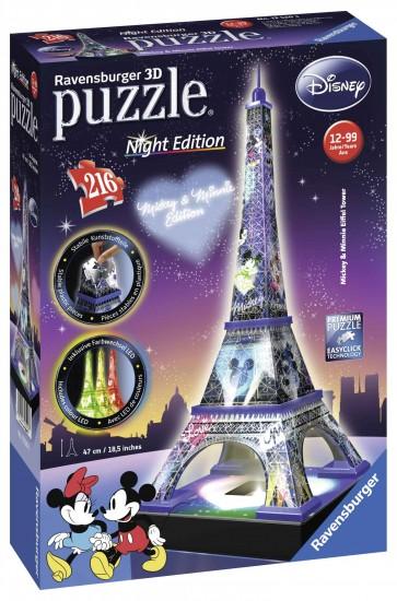 Mickey Minnie Eiffel Tower 3D