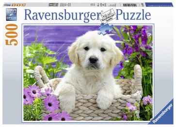 Sweet Golden Retriever Puzzle