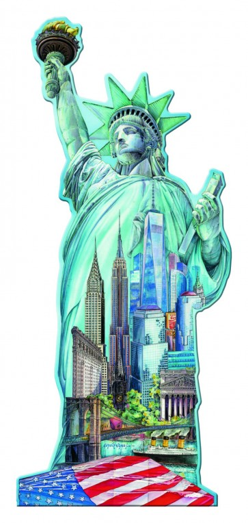 Rburg - Silhouette Puzzle Statue of Liberty 1000pc
