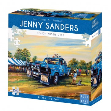 Blue Opal Jenny Sanders At the Ute Fair Jigsaw Puzzle