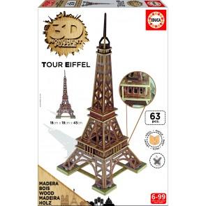 Educa 3D Monument - Eiffel Tower Jigsaw Puzzle
