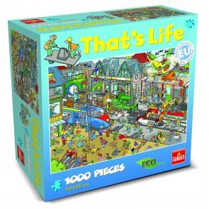 That's Life Train Yard Jigsaw Puzzle