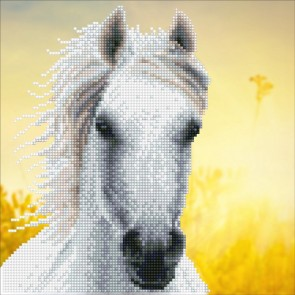 Diamond Dotz Diamond Art -  White Horse Kit