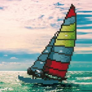 Diamond Dotz Diamond Art - Sailboat Kit