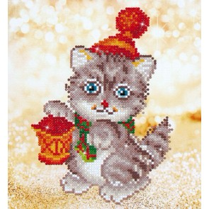 Diamond Dotz Christmas Kitten Glow Kit