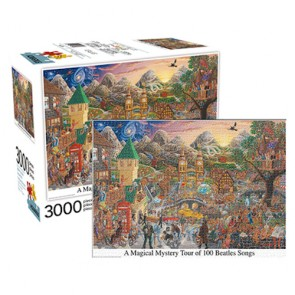 A Magical Mystery Tour of 100 Beatles Songs Jigsaw Puzzle