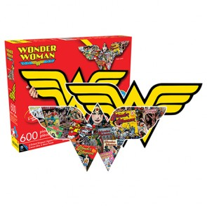 Wonder Woman Logo & Collage Double Sided 600pc Puzzle