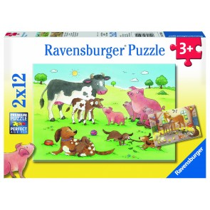Rburg - Animal's Children 2x12pc Puzzle
