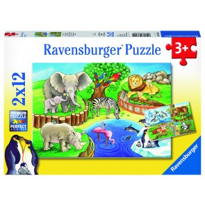 Rburg - Animals In The Zoo Puzzle 2x12pc