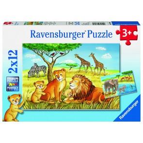 Rburg - Elephants Lions Company Puzz 2x12pc