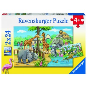 Rburg - Welcome To The Zoo Puzzle 2x24pc