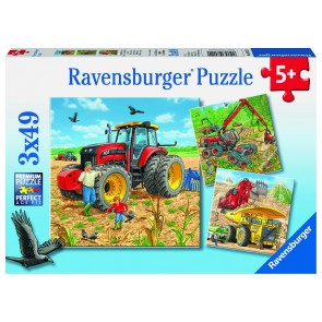 Rburg - Giant Vehicles Puzzle 3x49pc