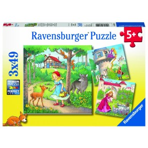Rapunzel, Riding Hood and Frog Puzzle