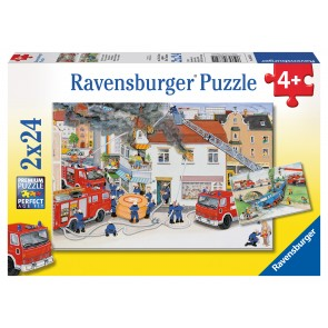 Rburg - Busy Fire Brigade Puzzle 2x24pc