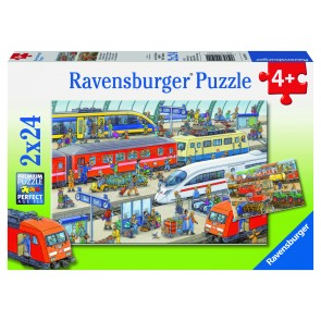 Rburg - Busy Train Station Puzzle 2x24pc
