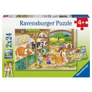 Rburg - Merry Country Life Puzzle 2x24pc