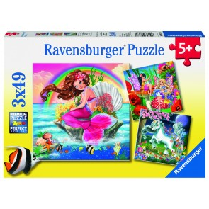 Rburg - Mythical Creatures 3x49pc Puzzle