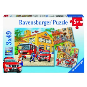Rburg - Fire Brigade Run Puzzle 3x49pc