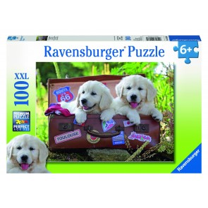 Rburg - Travelling Puppies Puzzle 100pc