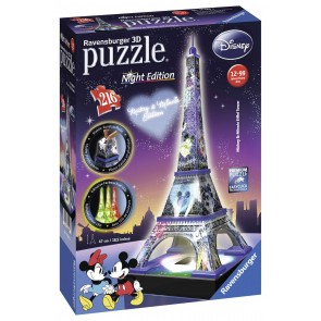 Mickey Minnie Eiffel Tower 3D
