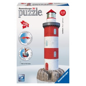Rburg - Coastal Lighthouse 3D Puzzle 216pc
