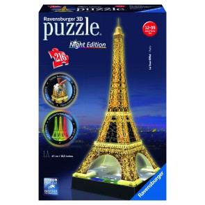 Rburg - Eiffel Tower at Night 3D Puzzle 216pc