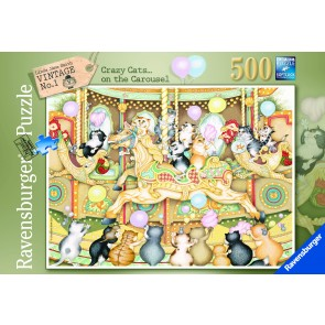 Rburg - Crazy Cats Carousel 500pc Puzzle