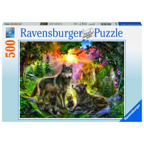 Rburg - Wolf Family in Sunshine Puzzle 500pc