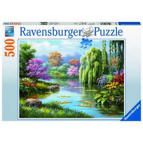 Romantic Pond View Puzzle