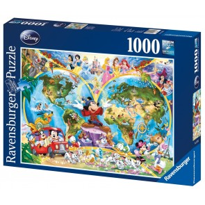 Rburg - Disney World Map Puzzle 1000pc