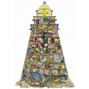 Rburg - Silhouette Ludicrous Lighthouse 995 pc