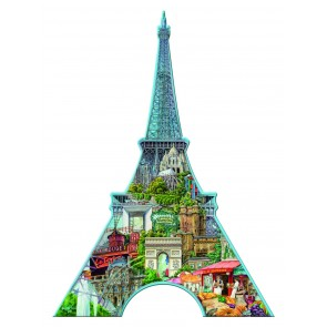 Rburg - Silhouette Puzzle Eiffel Tower 960pc