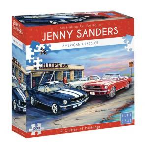 Blue Opal Corvette at Cactus Cafe Jigsaw Puzzle