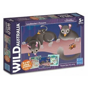 Blue Opal Wild Aust Leadbeater's Possums Jigsaw Puzzle