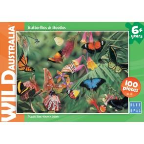Blue Opal Wild Aust Butterflies & Beetles Jigsaw Puzzle
