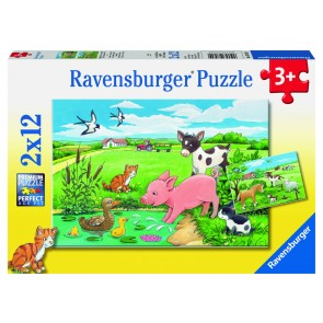 Rburg - Baby Farm Animals 2x12pc Puzzle
