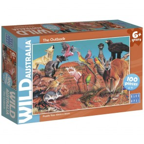 Blue Opal Wild Aust The Outback Jigsaw Puzzle