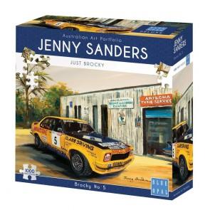 Blue Opal Jenny Sanders Brocky No 5 Jigsaw Puzzle